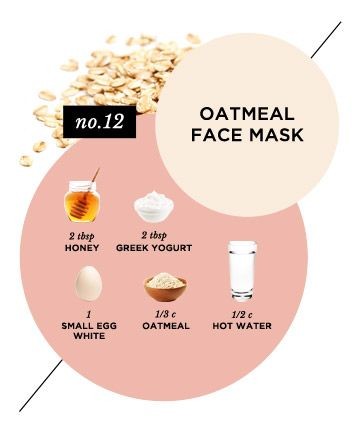 If you have sensitive skin, this DIY face mask for dry skin is for you. It contains oatmeal to gently slough off dead skin cells, along with honey and yogurt to deeply nourish the skin.