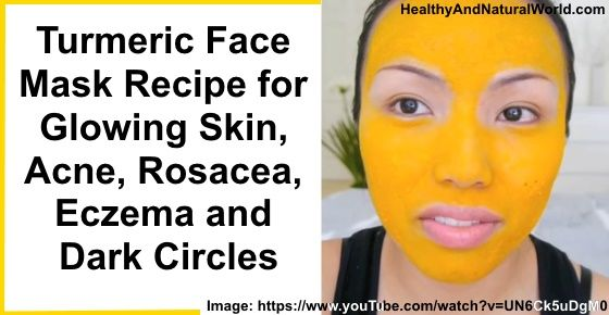 A clear and bouncy skin is what this DIY turmeric face mask swears to deliver. It contains honey, turmeric powder and yogurt to provide you with the clearest and softest skin you can imagine.