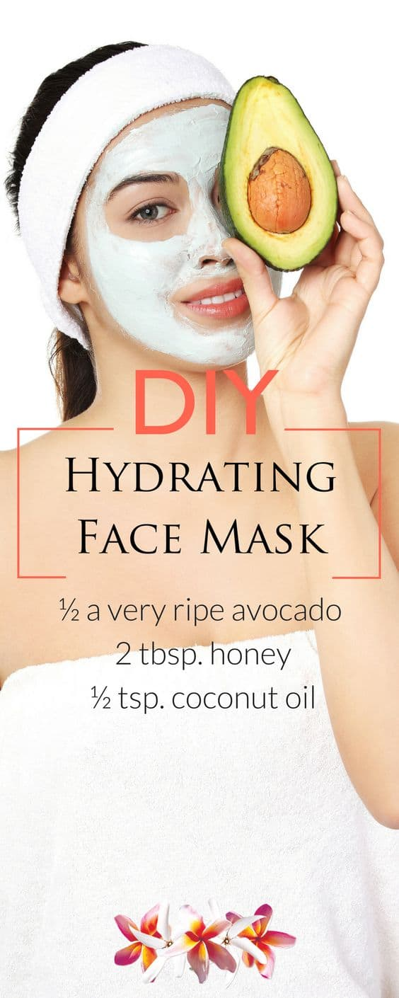 If avocados are your favorite fruit, then this DIY hydrating face mask will delight your senses. It also makes use of honey and coconut oil to up the hydrating and moisturizing powers of this mask.
