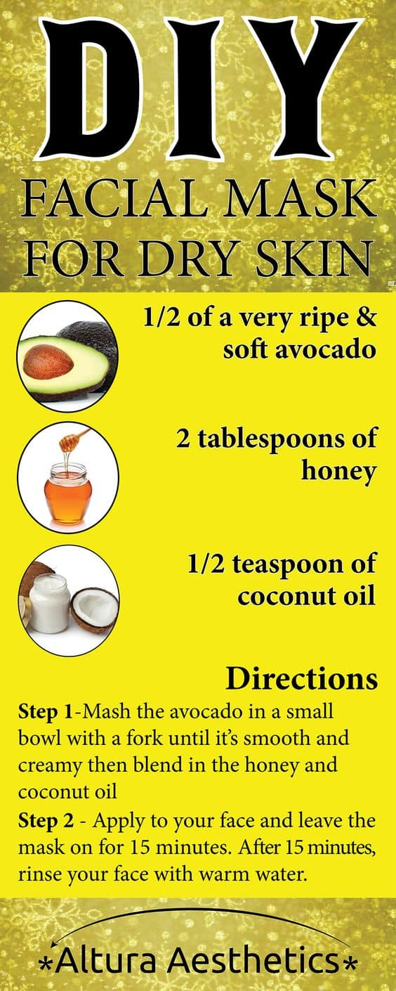 This DIY face mask for dry skin is good for the tummy as it is good for the skin. It features honey and avocado as its main ingredients to leave you with the softest skin you can imagine.