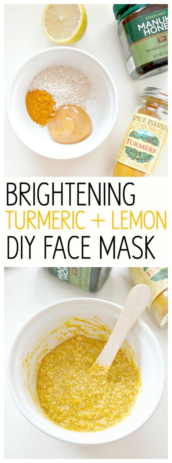 This DIY turmeric face mask transforms lifeless skin to skin full of life. It uses turmeric powder, honey and lemon juice and with the addition of oatmeal, makes it ideal even for sensitive skin.