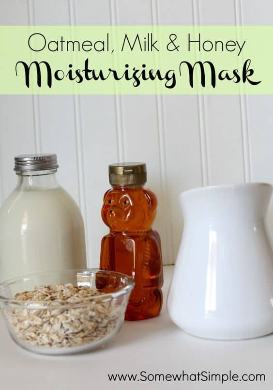 Great for sensitive skin, this DIY face mask for dry skin gently nourishes the skin with its oatmeal content. This mask also contains honey and milk, two of the oldest moisturizers known to man.