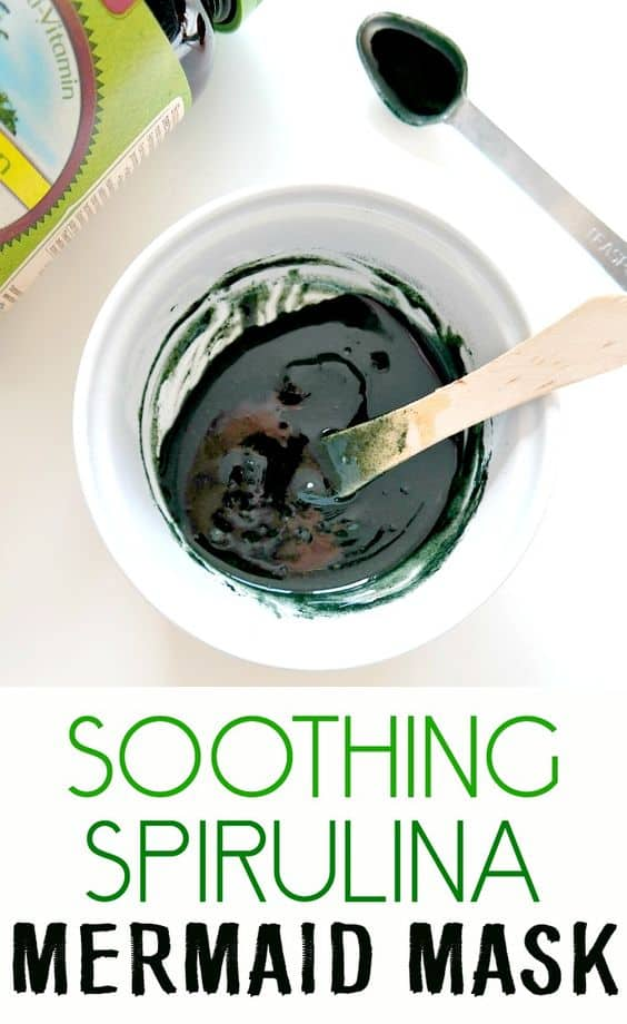 This DIY hydrating face mask will turn you green like that famous cartoon character since it has spirulina. It also contains honey and Aloe Vera gel to help soothe common skin irritations.