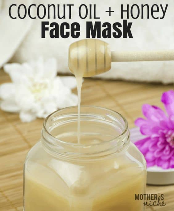 Dry, cracked skin will finally come to an end with this DIY face mask for dry skin. It only uses honey and coconut oil to provide intense moisturization your skin badly needs.